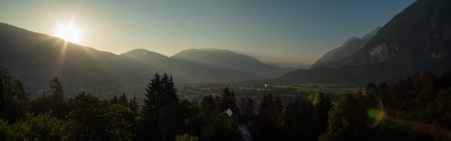 Mountain panorama of Lienz, Austria