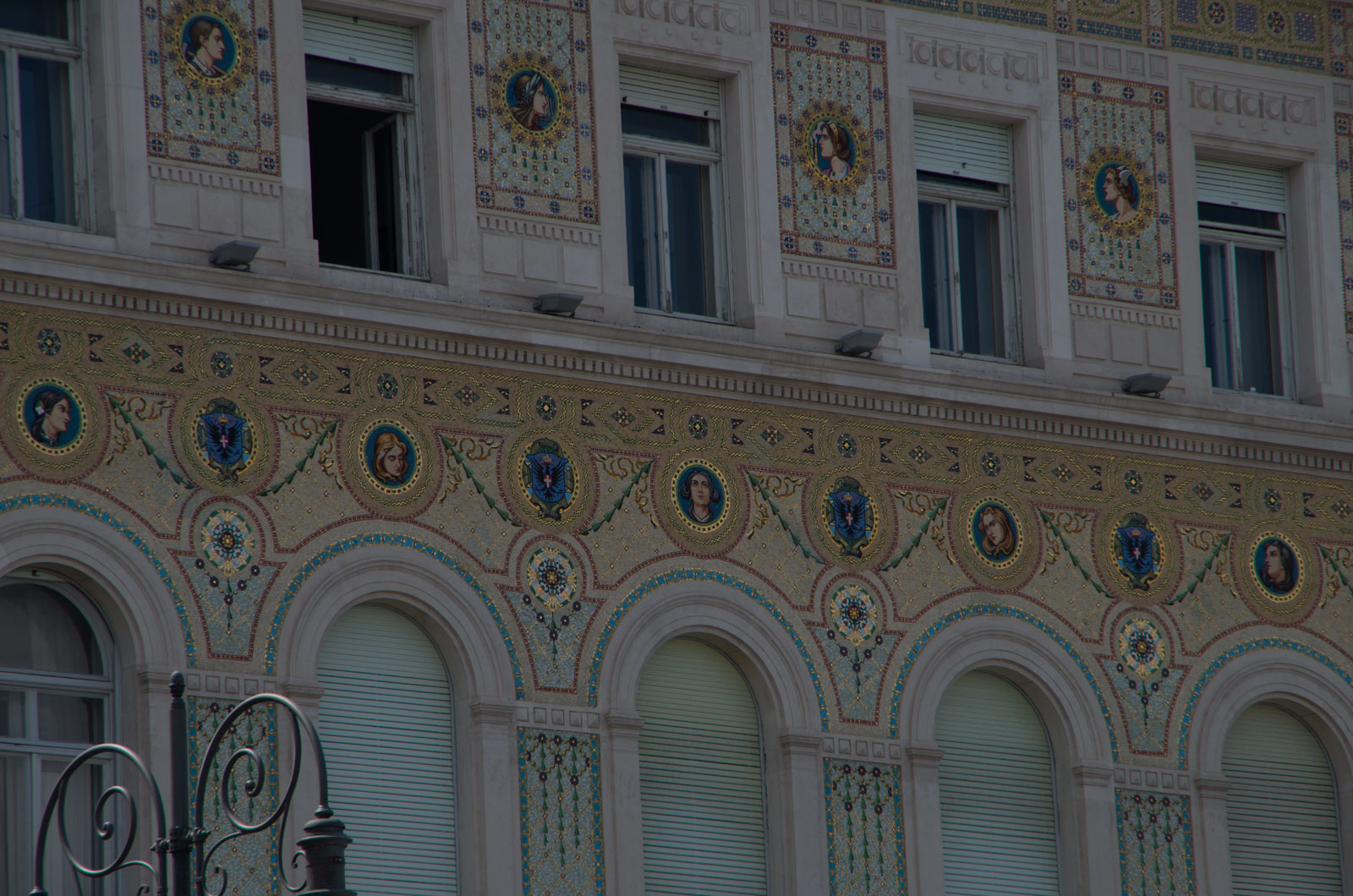 Details on a palazzo in Trieste