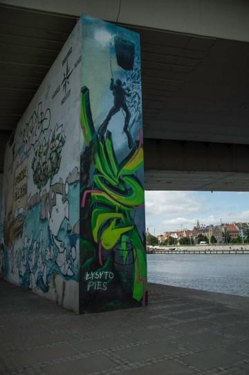 Cool streetart on the Szczecin riverfront
