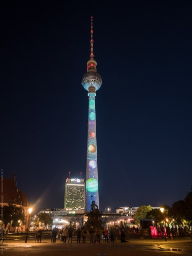 Illuminated TV Tower for Berlin's Festival of Lights