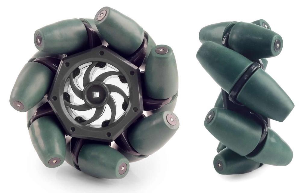 medium resolution of vex brand mecanum wheels