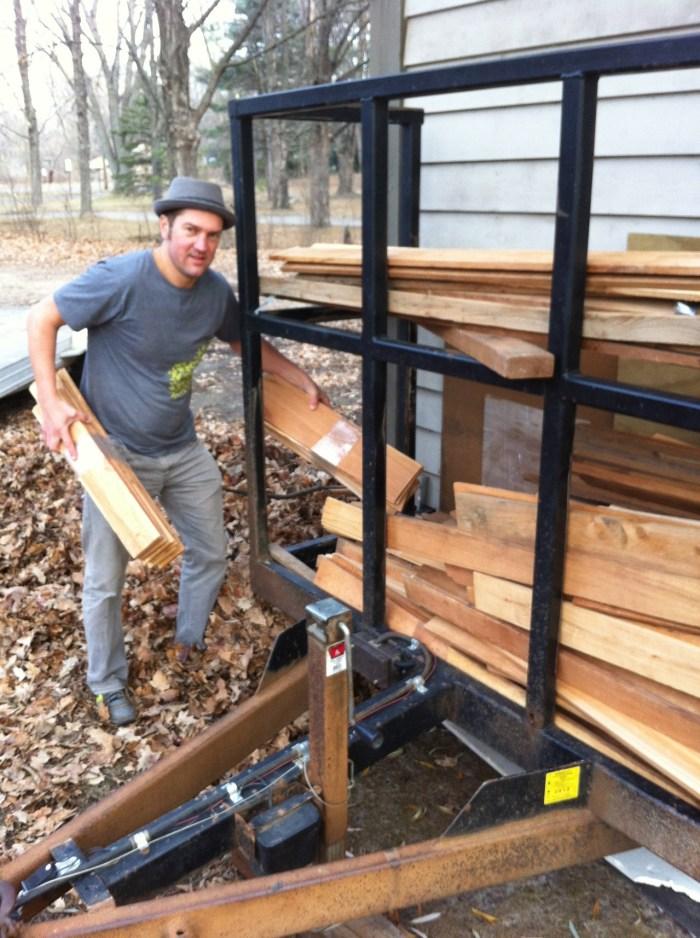 Jacob, the wood stacking king of Michigan!