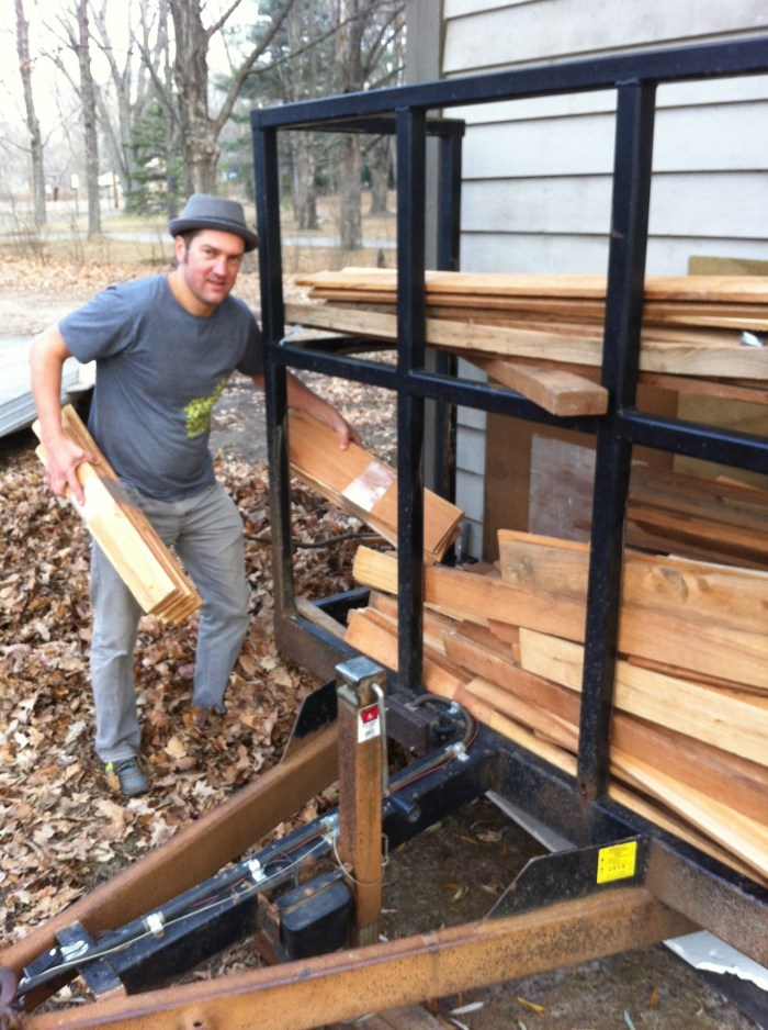Jacob, the wood stacking king of Michigan!