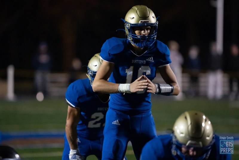 Davis White filled in admirably for Brentwood last season when needed, and now the Bruin senior gets his turn to start in 2021. He'll get a turn in the Spotlight on Sept. 17 against Ravenwood.