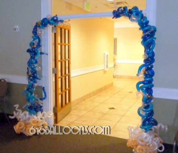 Half arch beach waves balloon sculpture by 616Balloons.com Grand Rapids, Mi. Premium balloon art & decor. Corporate events, private parties..
