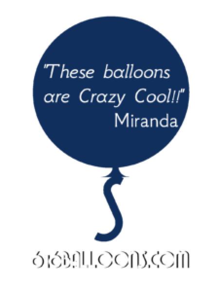 "Miranda testimonial ""These balloons are Crazy Cool!!"" 616 Balloons"