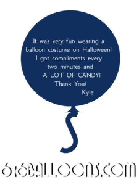 Kyle's balloon Halloween costume review