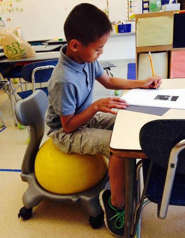 ball chairs for students luxury office melbourne the benefits of fidgeting with adhd 61chrissterry jake keller a fifth grade student at quaker school horsham near