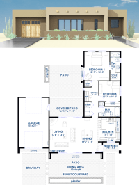 Contemporary Adobe House Plan | 61custom | Contemporary ...