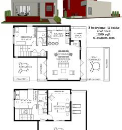 small modern house plan 1269 61custom [ 977 x 1303 Pixel ]