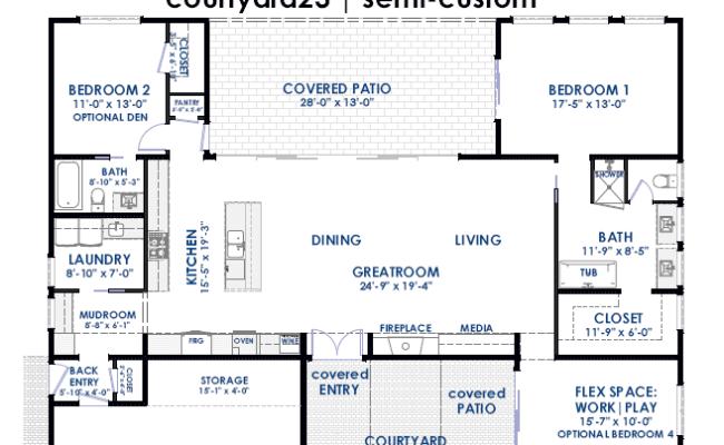 Courtyard House Plans 61custom Contemporary Modern