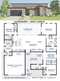 Courtyard House Plans | 61custom | Contemporary & Modern ...