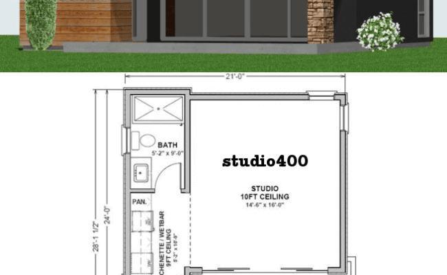 Studio400 Tiny Guest House Plan 61custom Contemporary