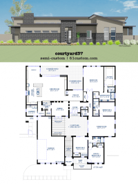 Modern Courtyard House Plan | 61custom | Contemporary ...