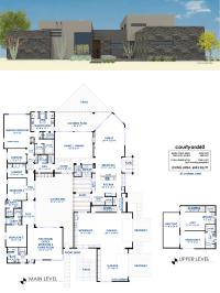 courtyard60 Luxury Modern House Plan | 61custom ...