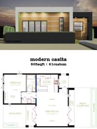 Casita Plan: Small Modern House Plan | 61custom ...