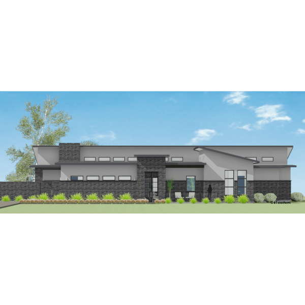 Contemporary Courtyard House Plan 61custom Modern