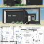 Small Front Courtyard House Plan 61custom Modern House