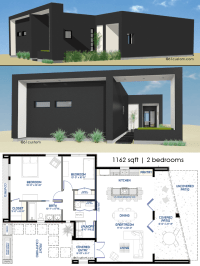 Small Front Courtyard House Plan | 61custom | Modern House ...