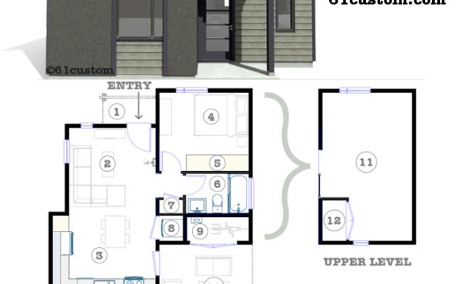 Studio500 Modern Tiny House Plan 61custom