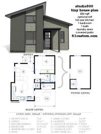studio500: modern tiny house plan