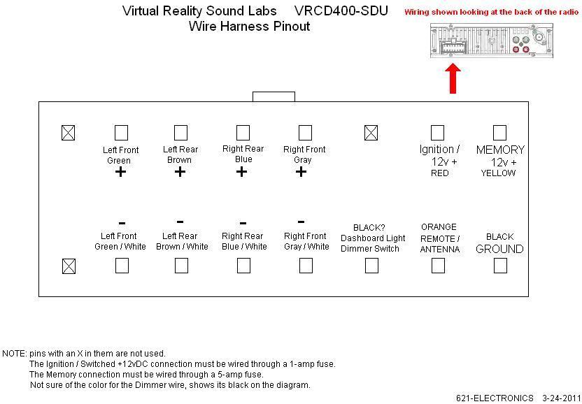 vrcd500 sdu audio wiring diagram - wiring diagram schematics