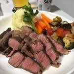低温調理器を使った牛肉のステーキ(^o^)