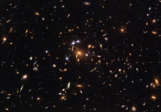 NASA's Hubble Space Telescope captured gravitational lensing of light, as predicted by Einstein. NASA, ESA, K. Sharon (Tel Aviv University) and E. Ofek (Caltech), CC BY