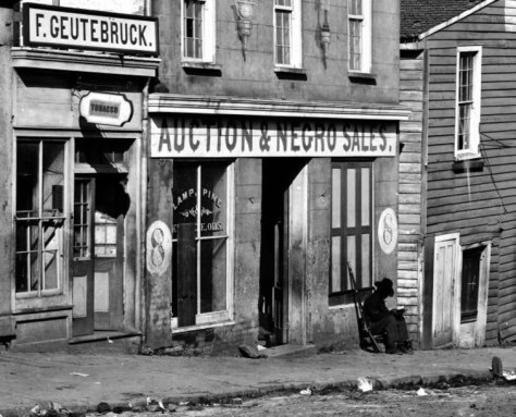 photo of Slave market in Atlanta, Georgia in 1864