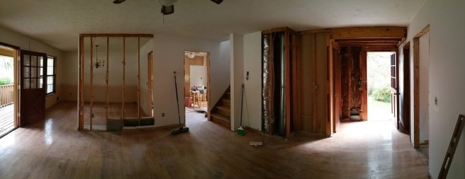 Panorama from fireplace corner