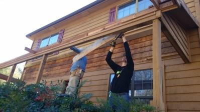 Removing porch trim