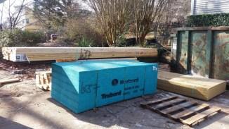 First lumber delivered