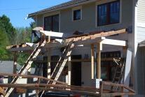 Ridge beam set and ready