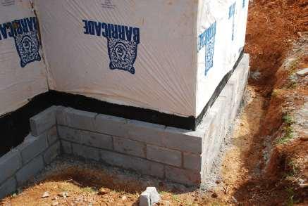 block up to support new brick underground