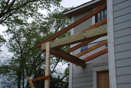 Back Porch roof framing
