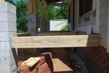 Floor framing at Front Porch