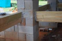 Detail at Porch framing