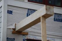 10x10 cedar beams up first
