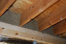 Rock wool above furring required by inspector
