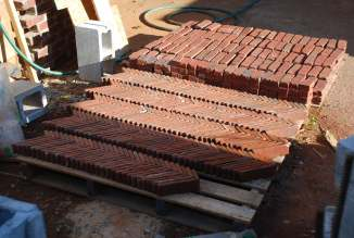 Finally all the brick are cut