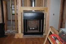 New wood-burning fireplace installed