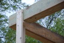 Closeup of Back Porch beam framing