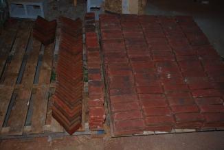 Beginning on corner bricks - 50 done, 142 to go!