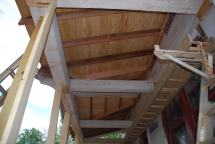 Porch rafters and decking from below