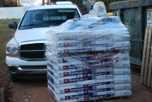 Roofing shingles delivered - that's a job for next week