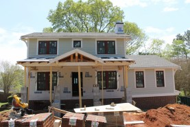 Waiting for roofers to put on the shingles