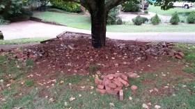 Removing brick border at planter