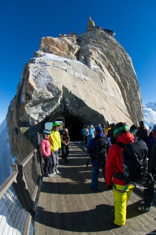 The bridge at the top cable car station, Aiguille du Midi