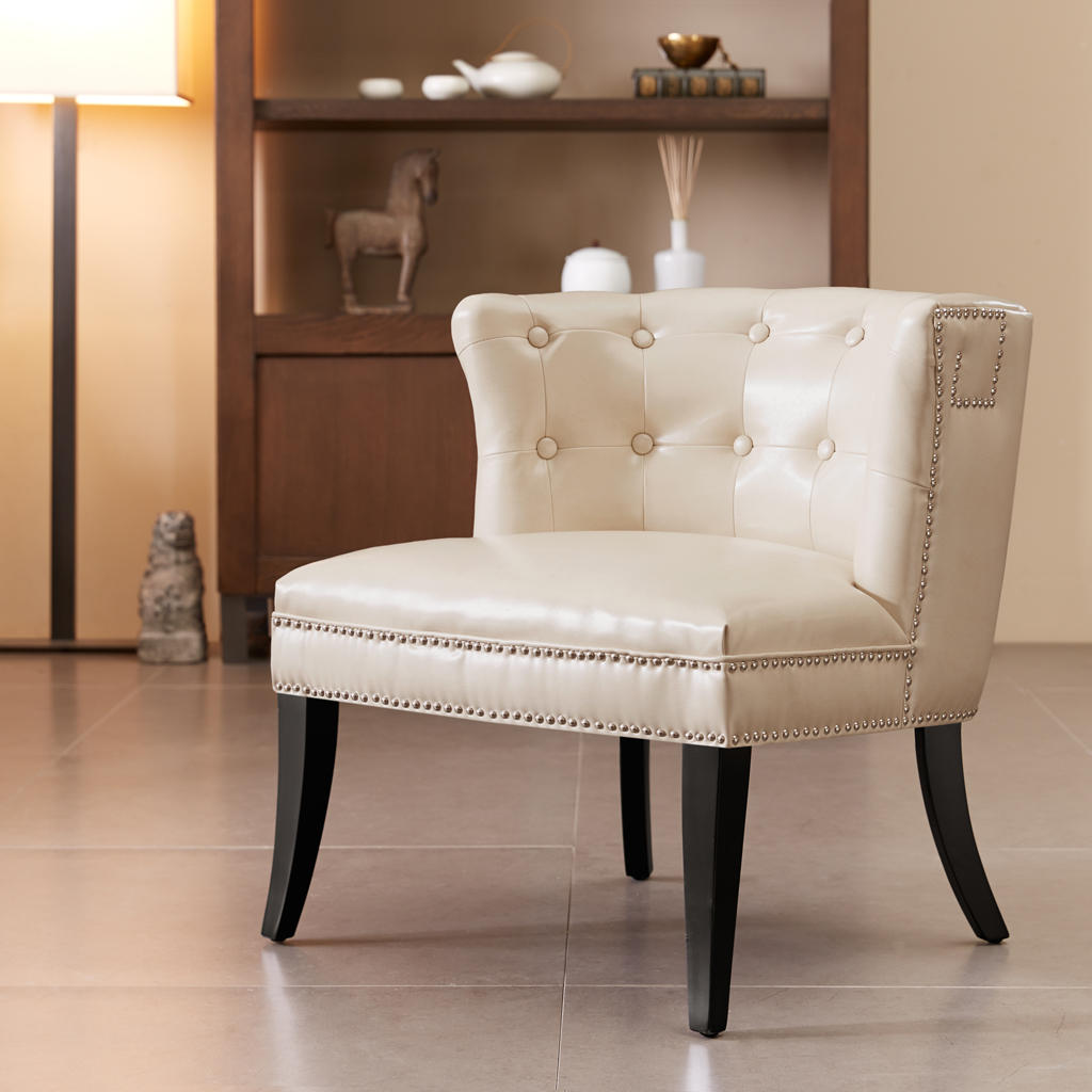 bonnie cream slipper chair design materials madison park bianca accent ebay