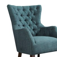 Madison Park Hannah Button Tufted Wing Chair | eBay